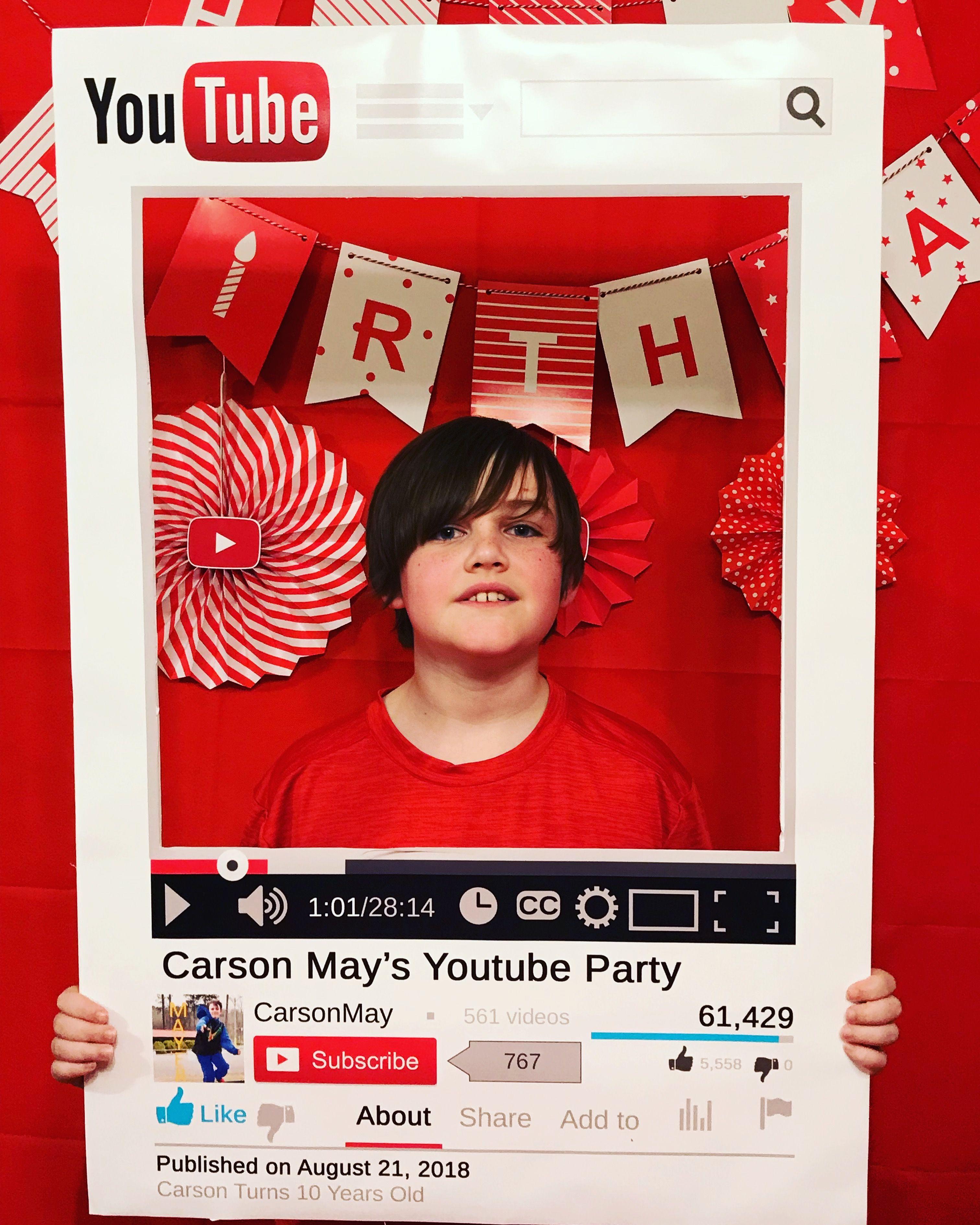 Youtube Selfie Frame Youtube Party Youtube Birthday Girls Birthday Party Decorations