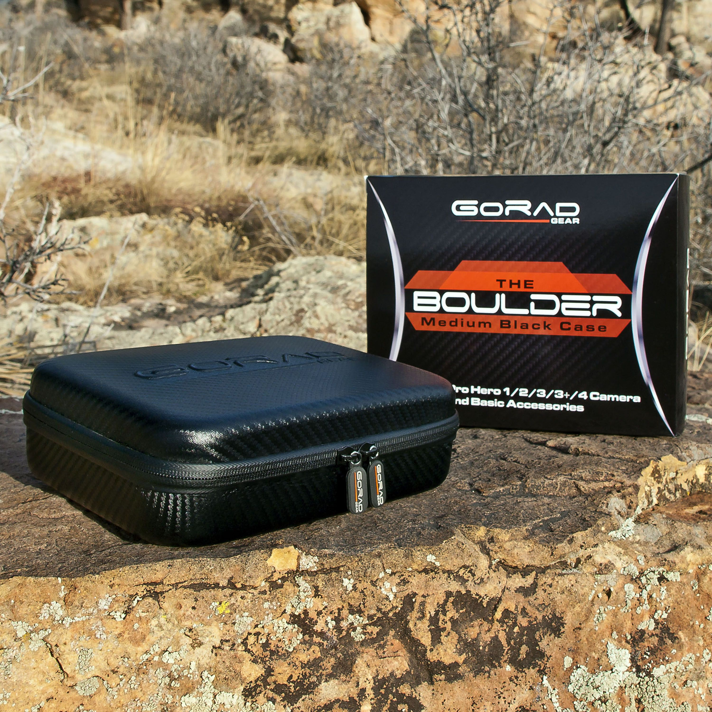 Durable Black CAOMING Shockproof Portable Storage Bag for GoPro HERO4 3//2 1 3+
