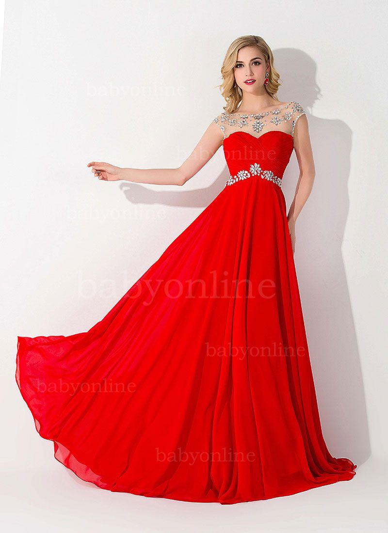 4493e6a2b86c 30 Vestidos de fiesta largos en color rojo | francis | Vestidos ...