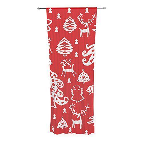 "Kess InHouse Miranda Mol ""Warm Winter Red"" White Decorative Sheer Curtain, 30 by 84-Inch Kess InHouse http://www.amazon.com/dp/B00PCFA3G4/ref=cm_sw_r_pi_dp_W.eDub00J00T7"