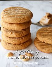 Chewy and Moist Peanut Butter Cookies  Christmas Recipes Crafts  More