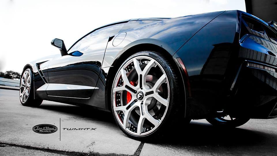 Lil Keke Black Chevrolet Corvette with Custom