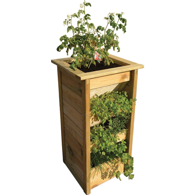 Einfach Zu Bepflanzen Ideal Fur Terrasse Und Balkon Krautersaule Grun Impragniert 50 Cm X 95 Cm X 50 Cm Holz Hochbeete Im Obi In 2020 Impragnieren Obi Obi Online