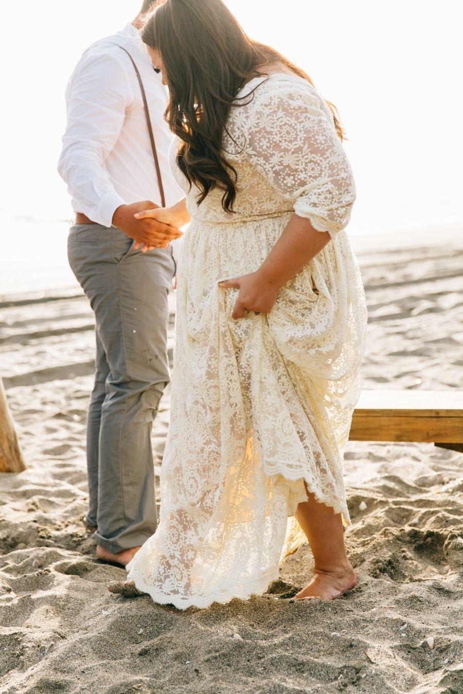 Intimate + Romantic Nicaraguan Beach Wedding Plus size