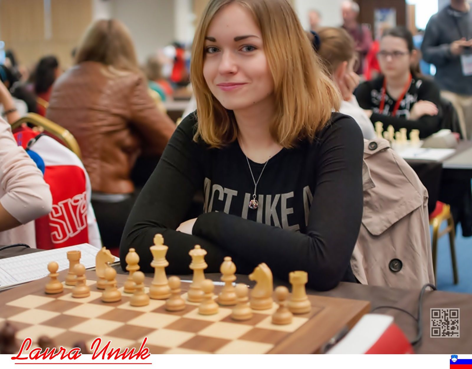 Laura Unuk Federation Slovenia Fide Title Woman Intl Master Rating Std 2220 Rapid 2105 Blitz 2016 Chess Game Chess Chess Board