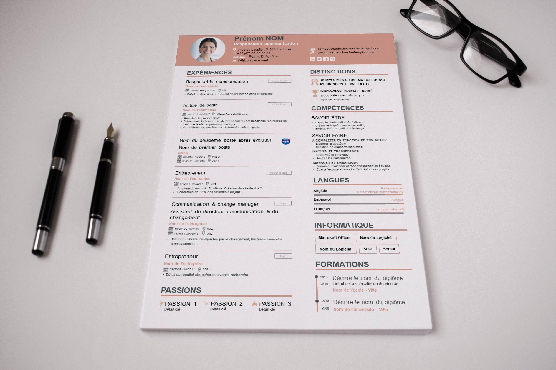 Modèle de CV simple et original 2020 © Modèle cv, Cv