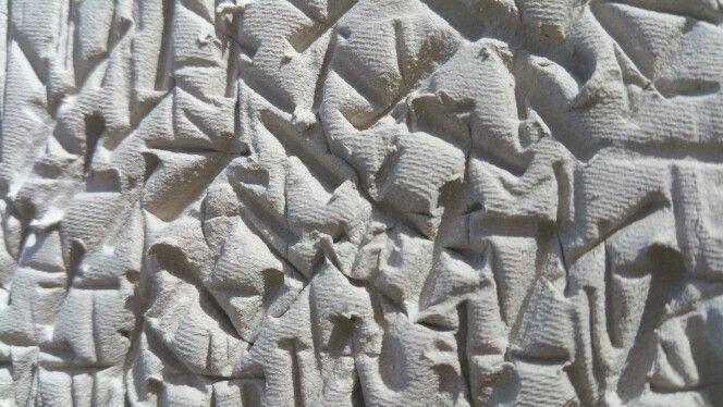 Textured Ashraf Hanna Clay using wooden fork.