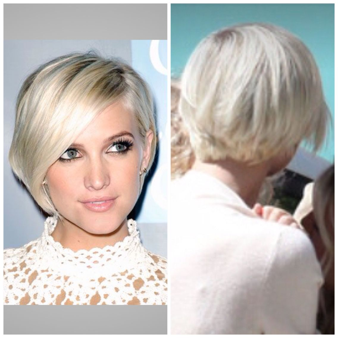 Ashlee Simpson Chin Length Bob Back View