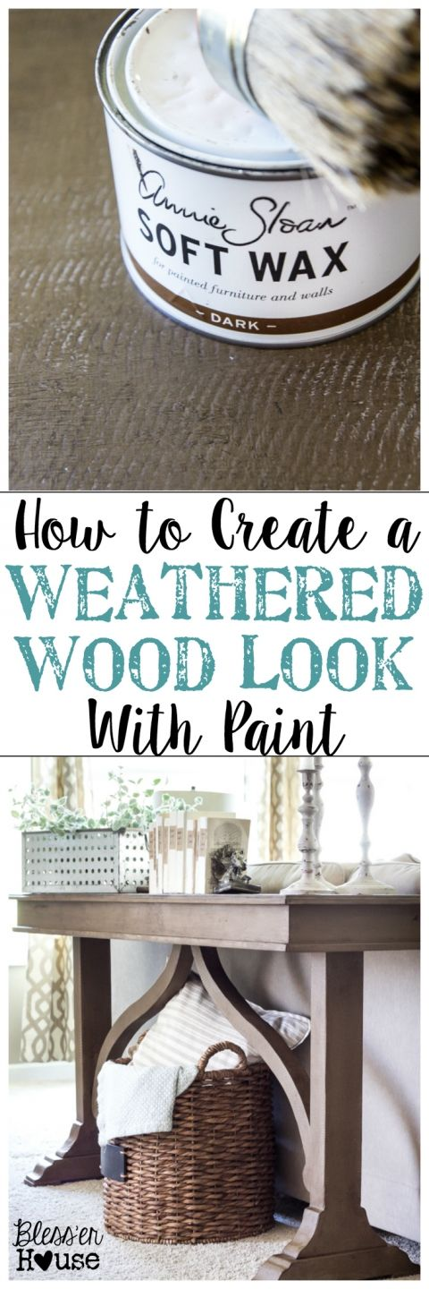 how to create a weathered wood look with paint. Black Bedroom Furniture Sets. Home Design Ideas