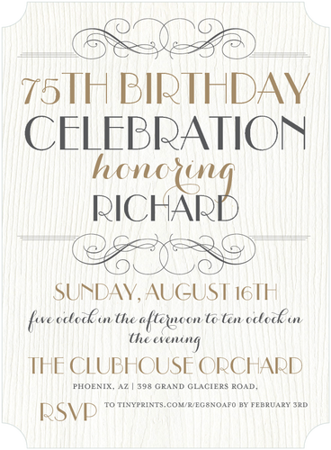 Invitation For Birthday Essay. Elegant 75th Birthday Invitations  50 Gorgeous Party Invites