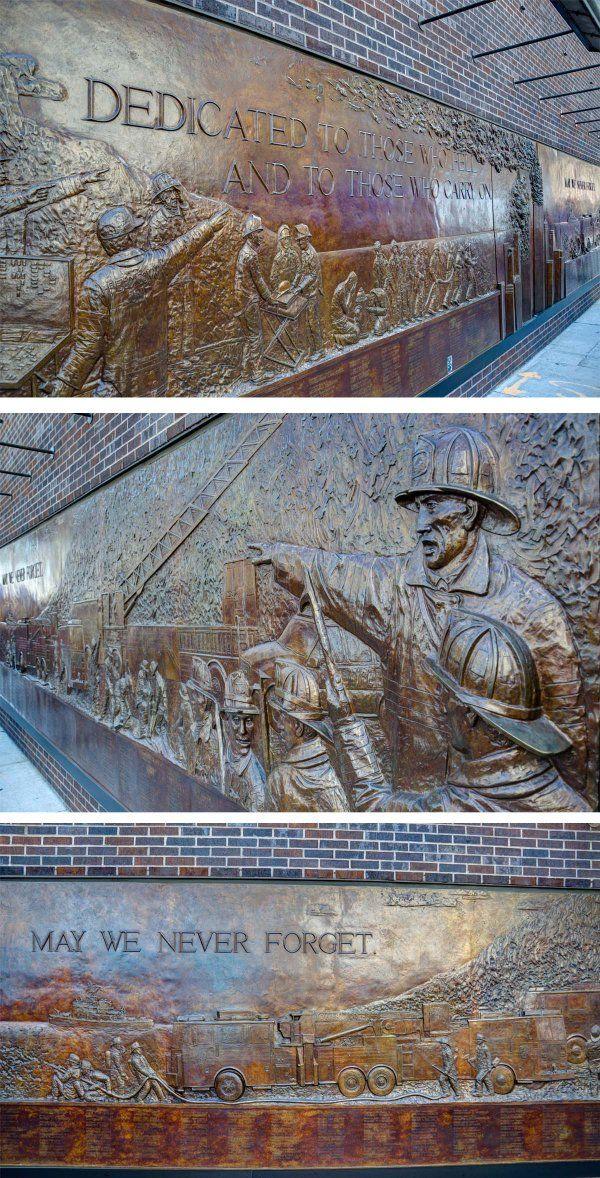 FDNY Memorial Wall Ground Zero, New York #groundzeronyc