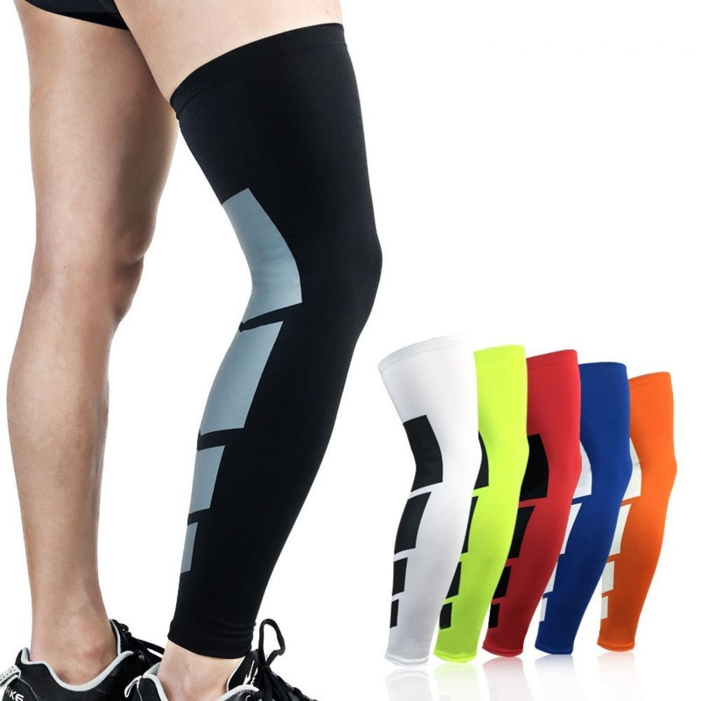 Sports Calf Elastic Thigh Compression Knee Sleeves Wrap Protector Leg Warmer New Unbranded Compression Sleeves Basketball Leg Sleeves Knee Compression Sleeve
