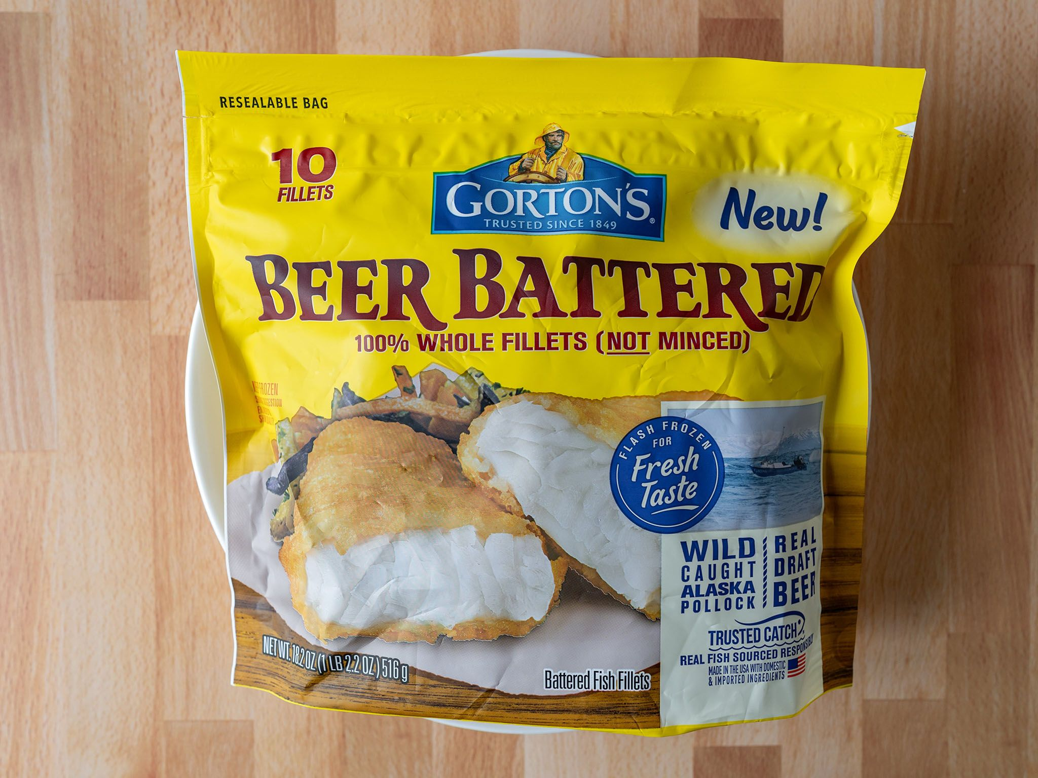 How to cook Gorton's Beer Battered Whole Fillets in an air
