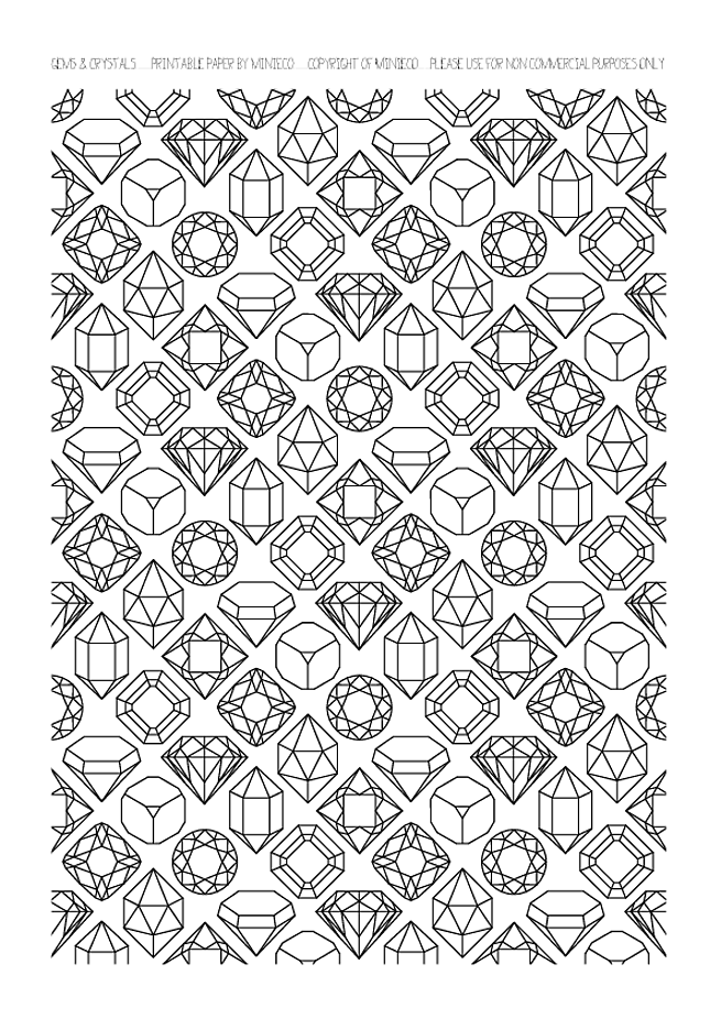 Gems coloring page, not celtic but what an idea! Bejeweled