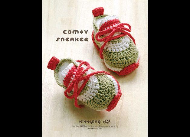 Häkelarbeit-Baby-Muster-Baby-Comfy Sneakers   Pinterest   Comfy ...