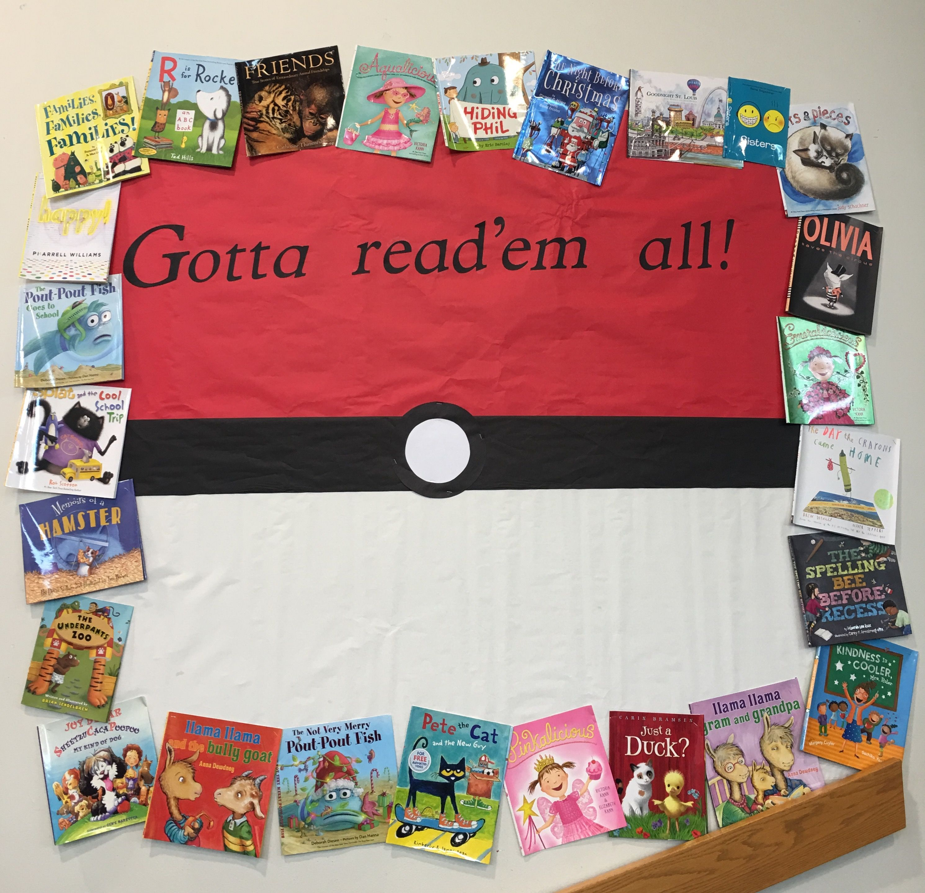 Pokemon Library Bulletin Board