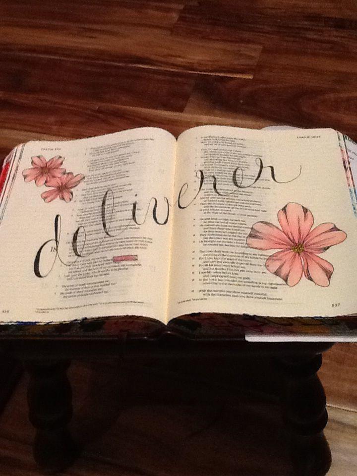 Psalm 18:2. Sherrie Bronniman - Art Journaling: In My Bible
