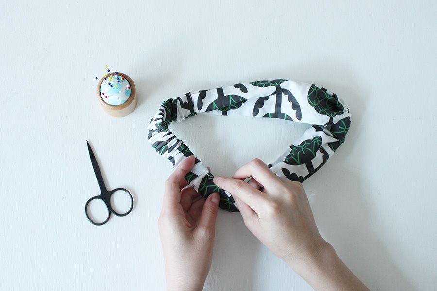 手縫いでも作れる ヘアバンド ヘアターバン の作り方2種 ヘアバンド 作り方 型紙 ハンドメイドの型紙 手芸