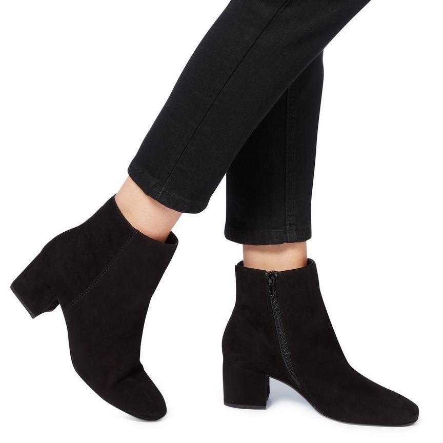 29875115818 OLYVEA - Mid Block Heel Ankle Boot - black
