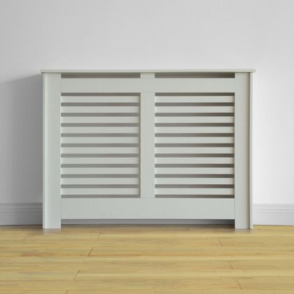 Virginia 110cm White Radiator Cabinet Cover Cabinet Radiator