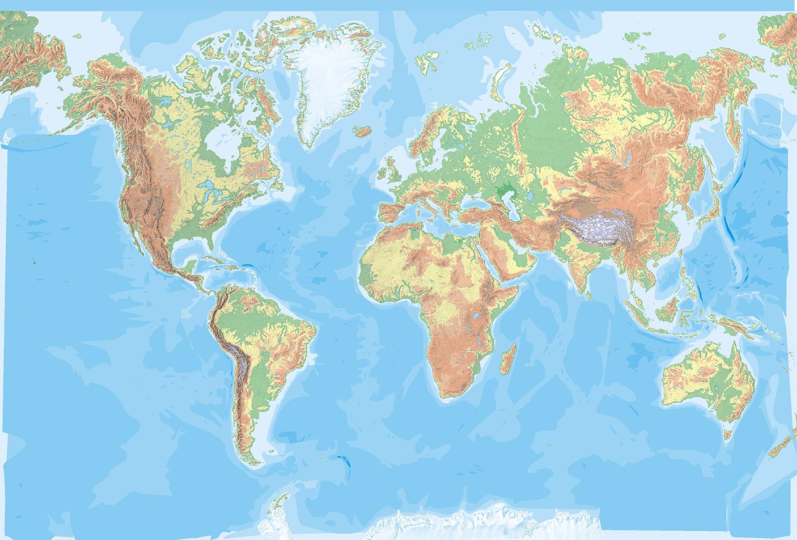 Mapa Físico Del Mundo.Resultado De Imagen De Mapa Fisico Mundo Mapas Del Mundo