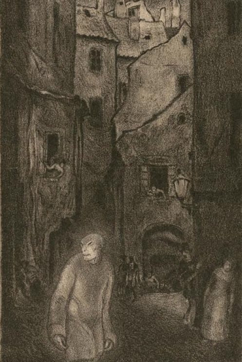 Illustration to Gustav Meyrinks The Golem, 1915 by Hugo Steiner ...