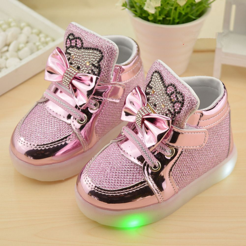 Nice 2016 New Autumn Children Shoes Brand Hook Loop Led Shoes Lighted Kids Sneakers Children Led Sneakers Girls Casual Shoes Boys Casual Shoes Girls Shoes Kids