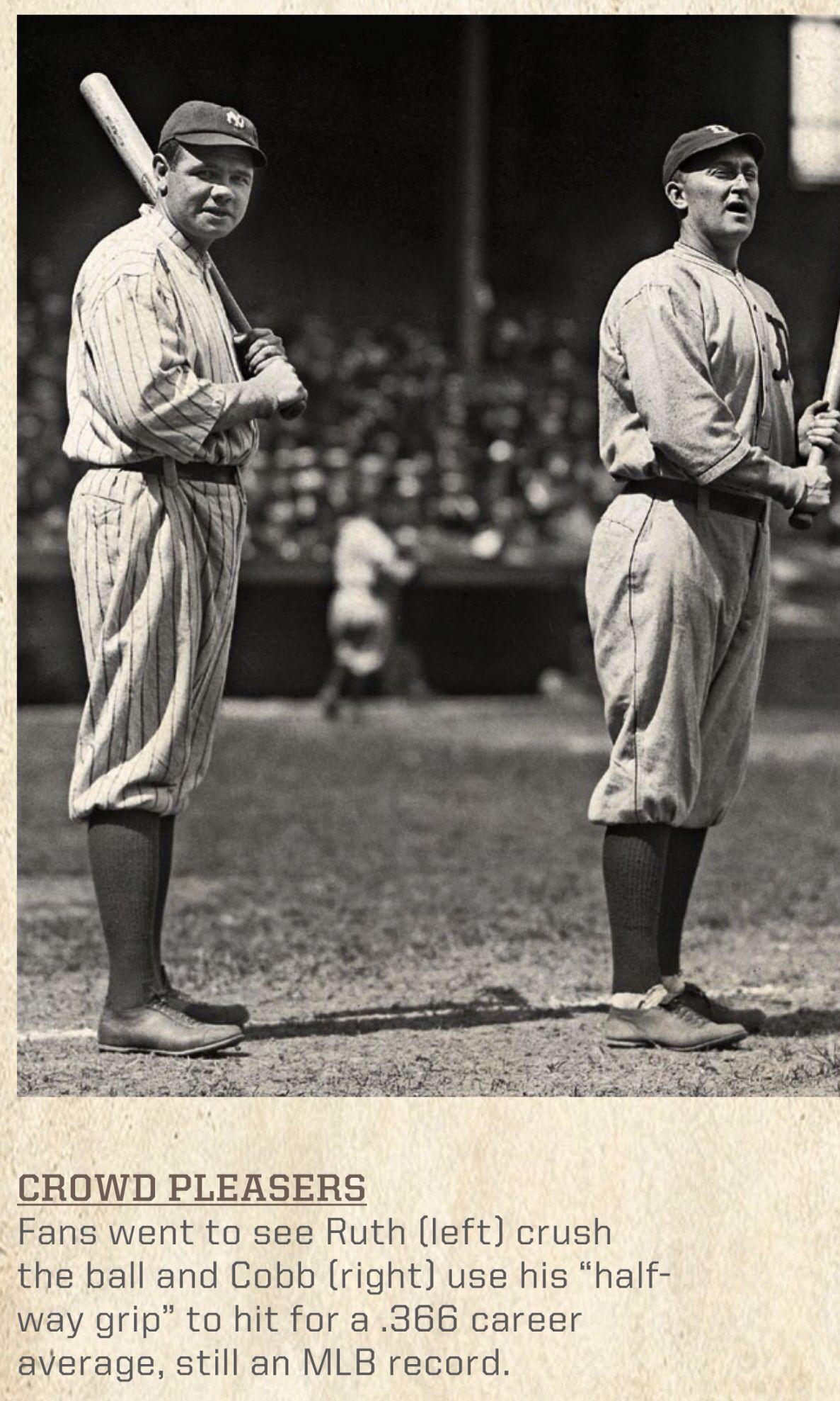 Babe Ruth Ty Cobb Crowd Pleasers Mlb Baseball Baberuth Tycobb Vintage Ty Cobb Babe Ruth Baseball History