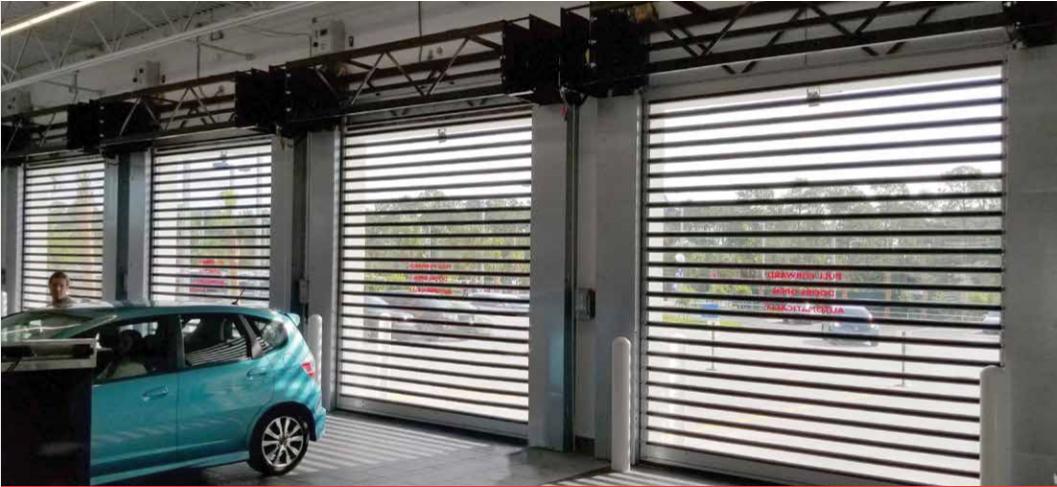 The Garage Door For Car Dealerships In 2020 Metal Door Fire Rated Doors Door Insulation