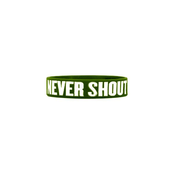 Never Shout Never Wristband, T-Shirts, Hooded Sweatshirts, Hoodies,... ($15) ❤ liked on Polyvore featuring jewelry, bracelets, accessories, band merch, rubber bracelet, punk jewelry, rock jewelry and punk rock jewelry