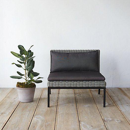 Modernist All Weather Wicker Lounge Chair, $898, Terrain