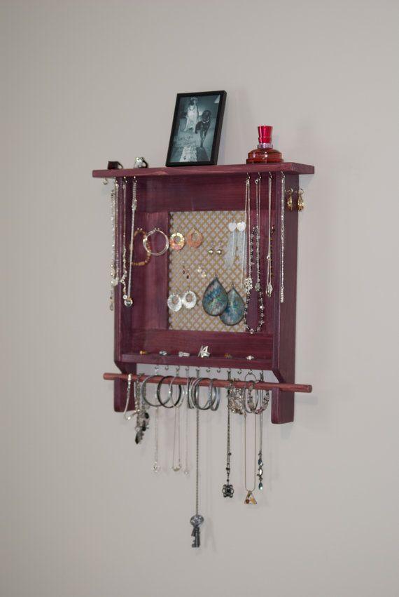 Jewelry Holder Wall Mounted Jewelry Organizer includes bracelet