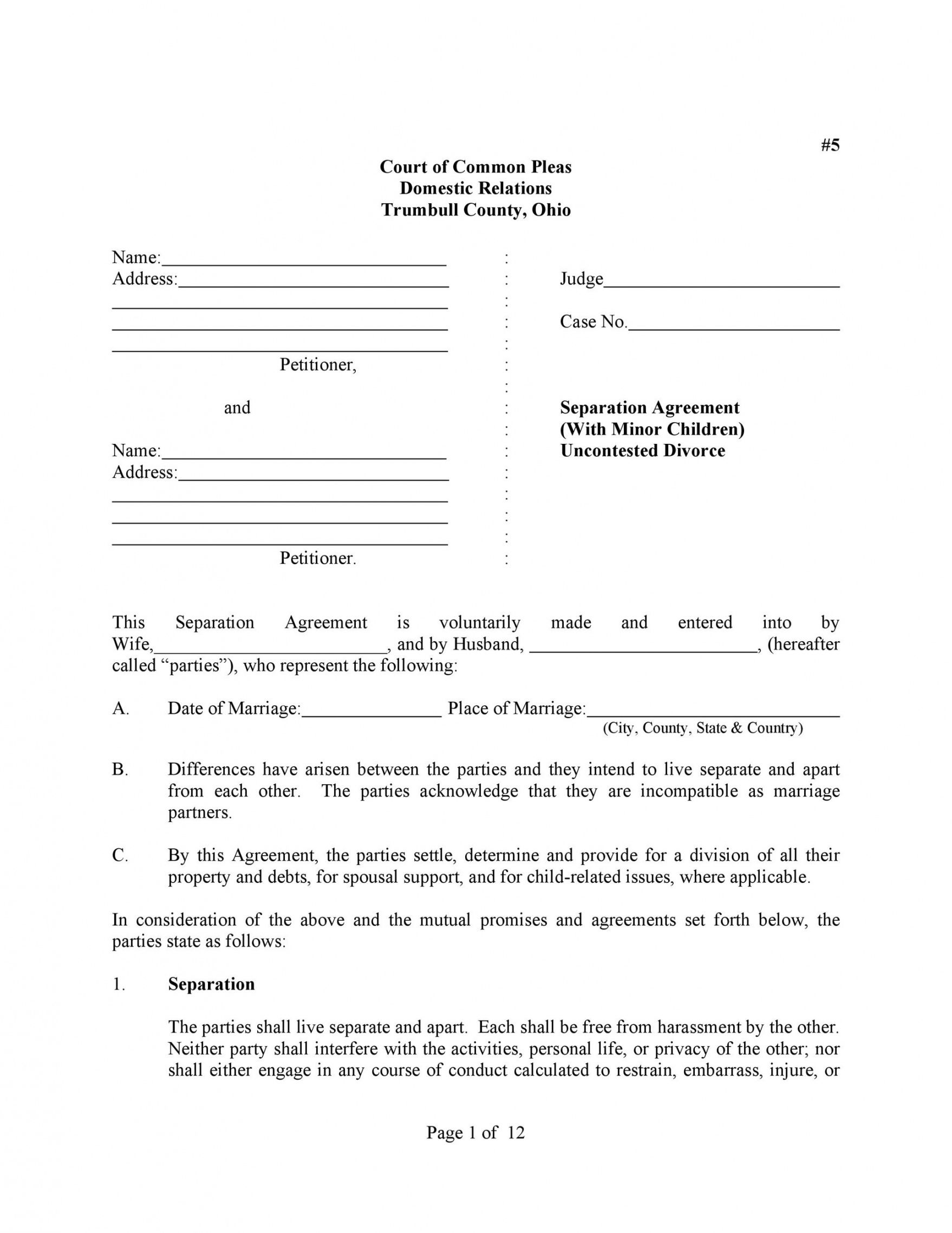 Free 43 Official Separation Agreement Templates Letters Forms Nys Separation Agreement Separation Agreement Template Separation Agreement Marriage Separation Divorce property settlement agreement template