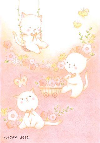 動物のイラスト さぎりのイラストレーション 子供イラスト 可愛い