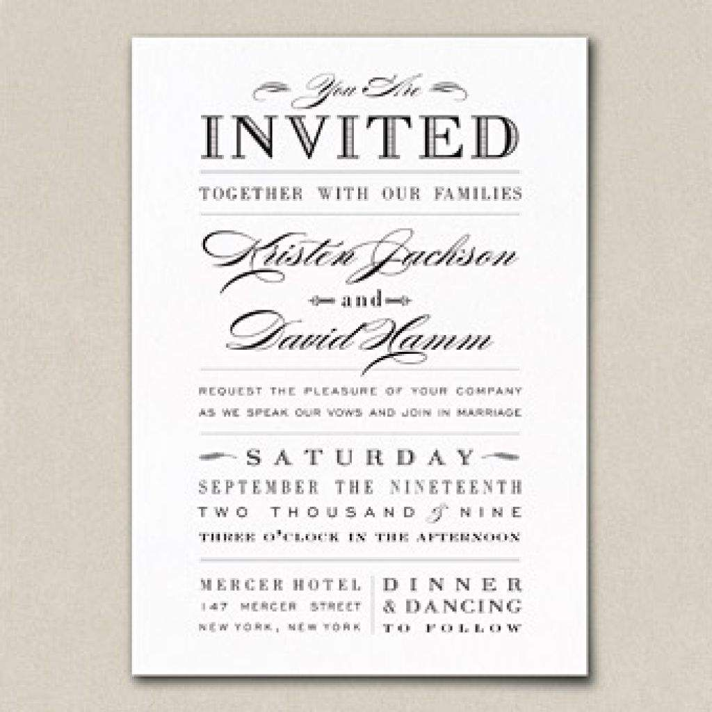 Words For Wedding Invites: Sample Wedding Invitation Wording Couple Hosting