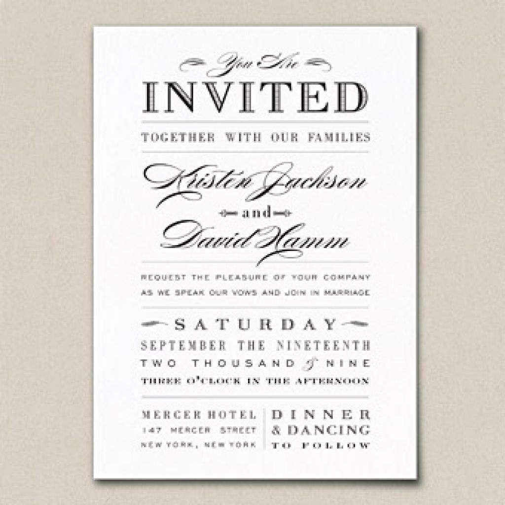 Sample Wedding Invitation Wording Hosting