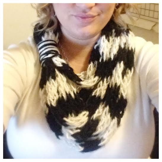 Infinity finger knit scarf by KraftieCarrie on Etsy https://www.etsy.com/listing/222921827/infinity-finger-knit-scarf