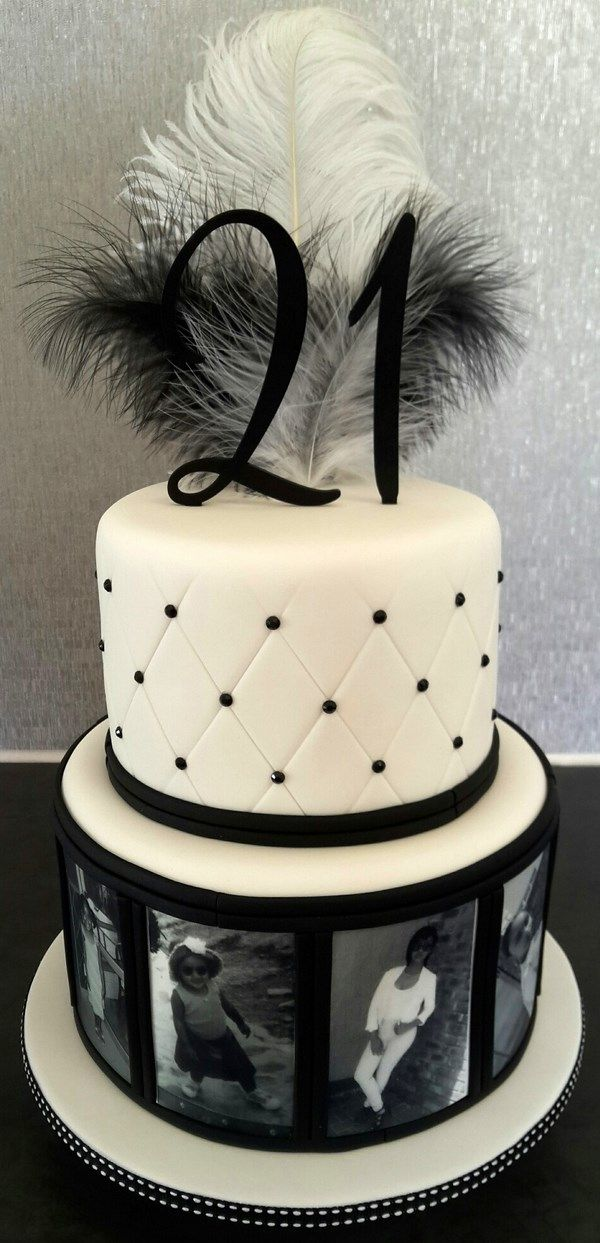 Unique Cake Design Ideas Black And White Photos Theme