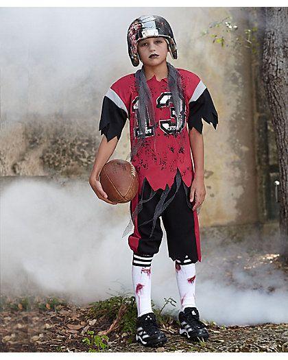 Zombie Football Player Boys Costume Kids Zombie
