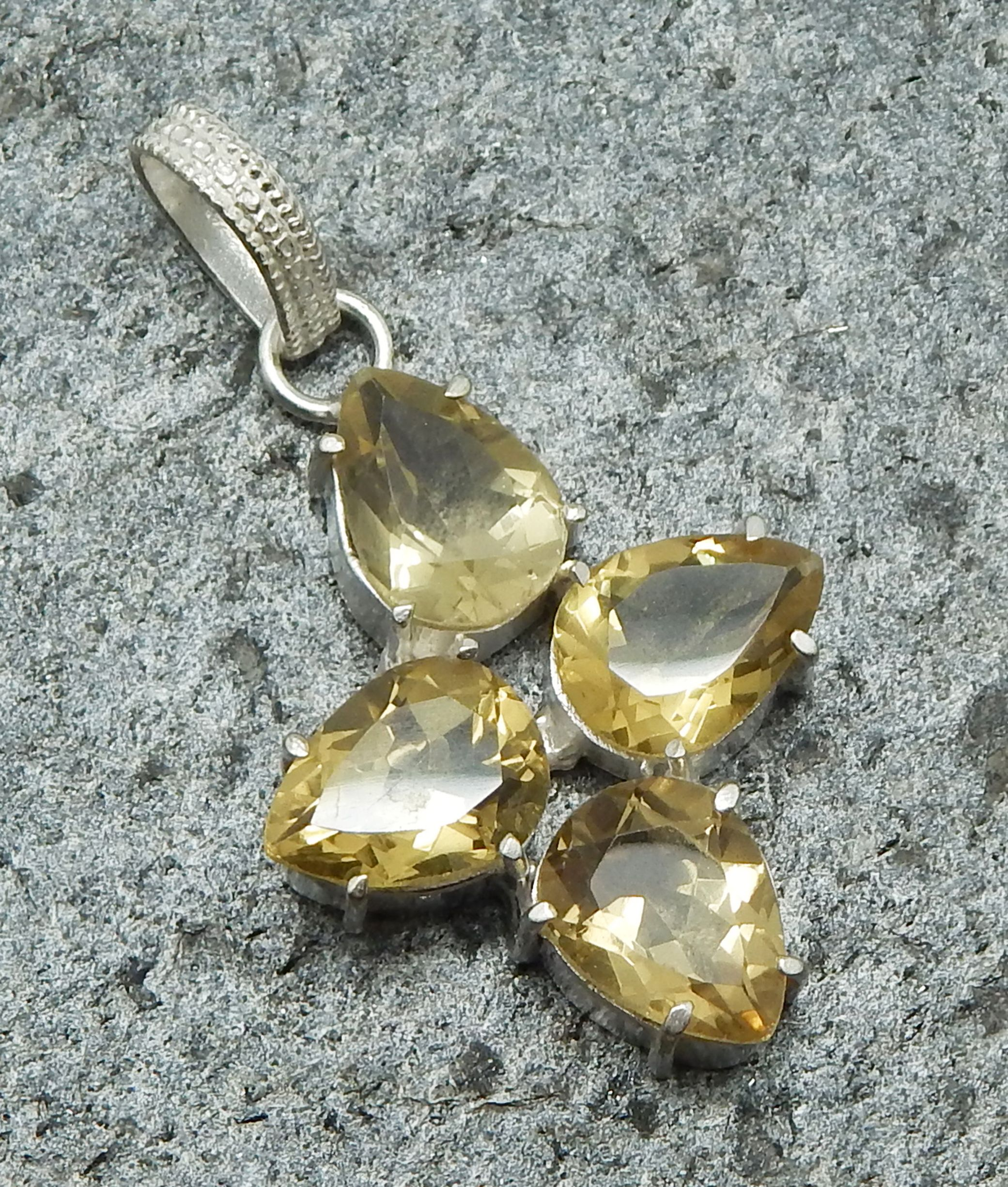 Handmade The Vcollection Jewelry Natural Lemon Gemstone Pendant Beautiful Gorgeous Designer Pendant