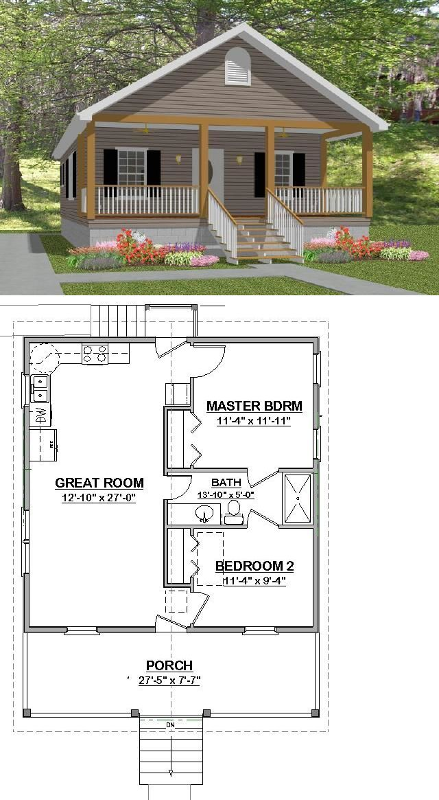 Building Plans And Blueprints 42130 On Sale Custom House Small Home Plans 2 Bedroom Cottage 784 Small House Plans Building Plans House Small House Floor Plans