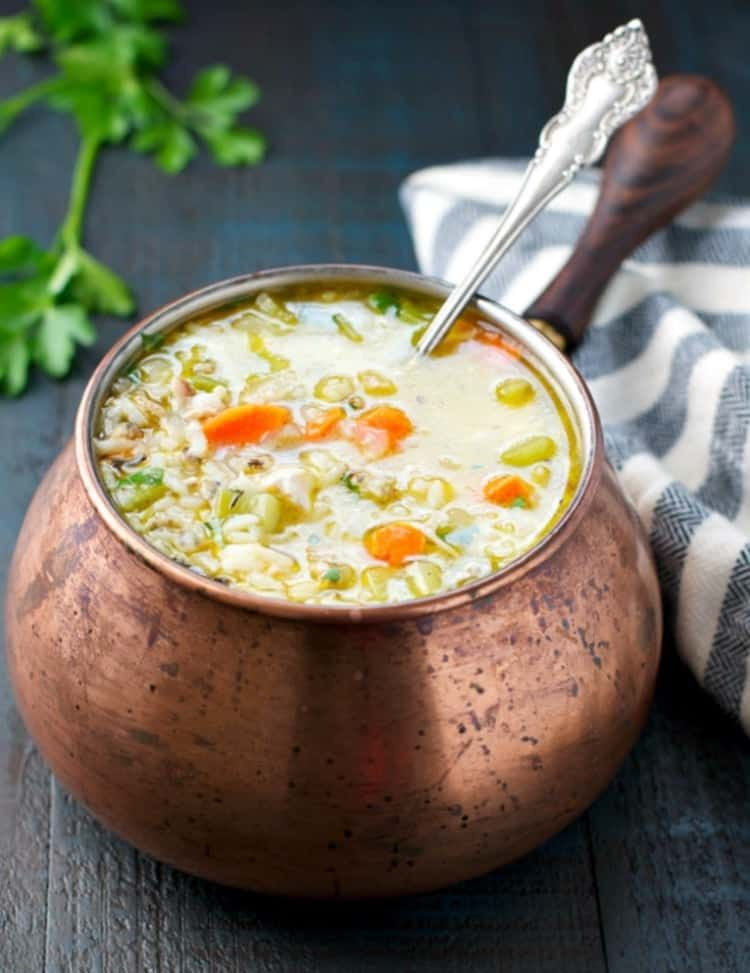 Photo of Wild Rice and Leftover Turkey Soup
