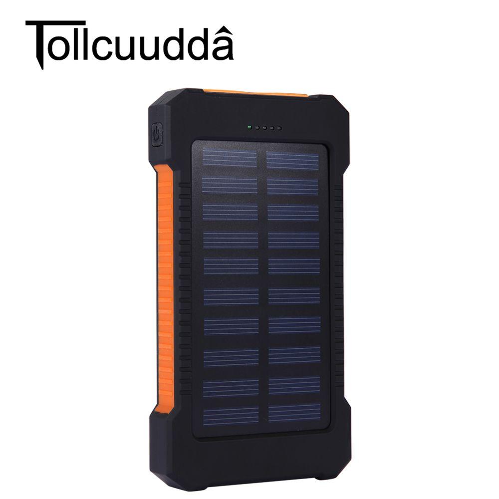 Tollcuudda Waterproof 10000mah Solar Power Bank So Price 28 Buy From Aliexpress Https Go Solar Panel Battery Diy Solar Power Generator Portable Solar Power