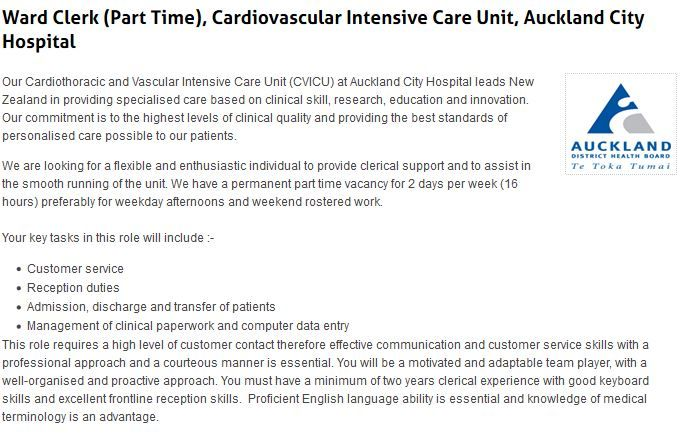 Team Leader - Clerical Support, Childrenu0027s Emergency Department - clerical experience