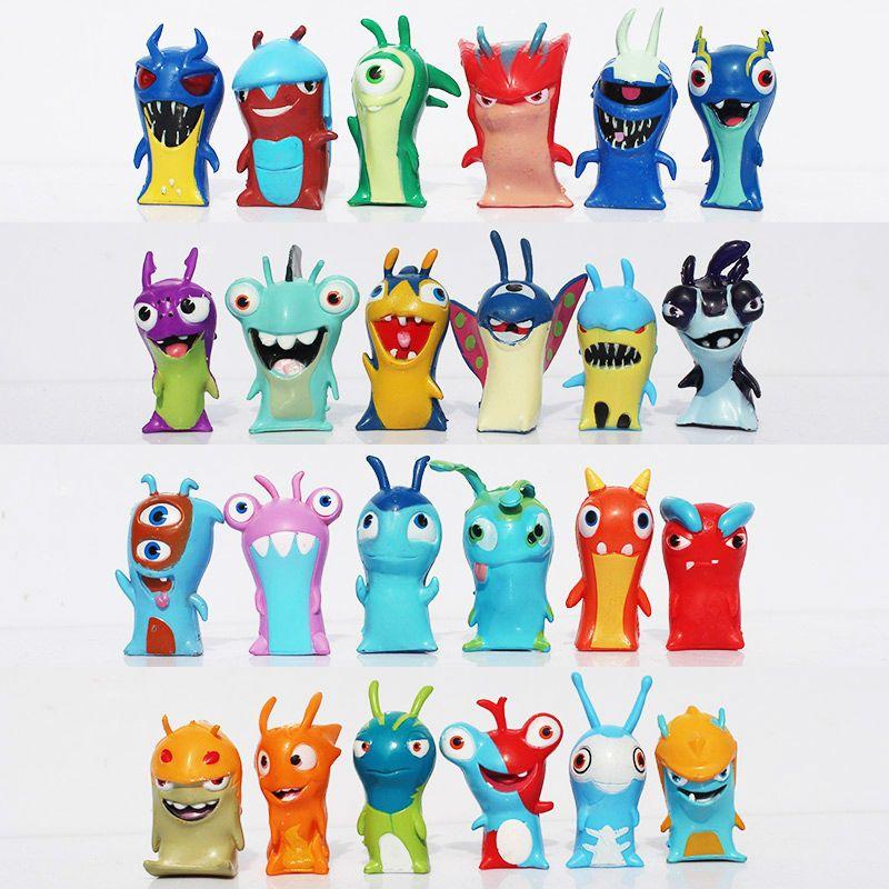 24pcs 4cm cartoon slugterra pvc action figures model toys dolls christmas birthday gifts boys toys free