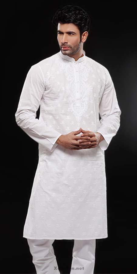 Latest Pakistani Men Kurta Shalwar Kameez Designs 2019 ...  |White Salwar Kameez Designs For Men