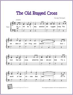 The Old Rugged Cross With Images Piano Sheet Music Free