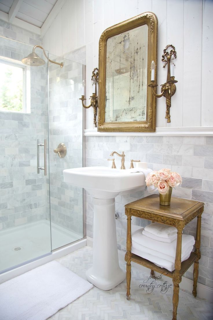 French Cottage Bathroom Renovation- Reveal | French cottage, Rustic ...