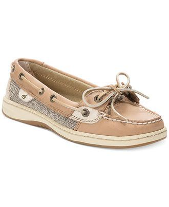 Classics women's leather boat shoes with mesh detail for a new Americana  look. Wear them with khakis for a classic look or make them edgy with cuff…