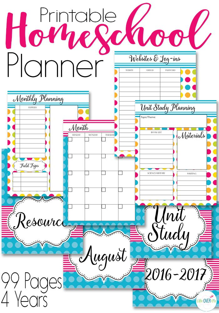 Get Organized Now with this Homeschool Planner